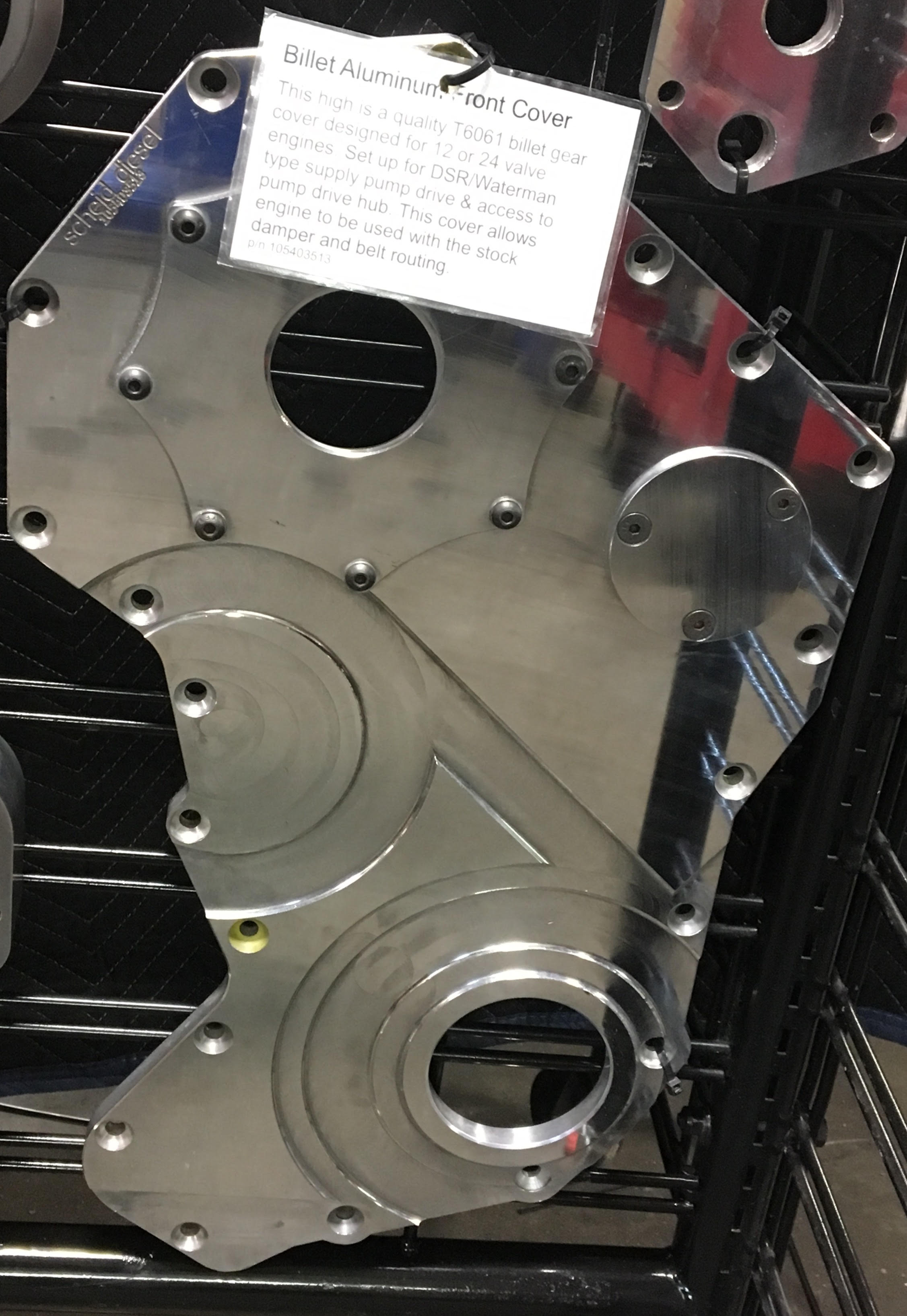 Cummins Billet Front Gear Housing Cover to use with Belt