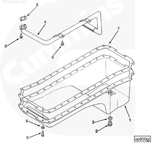 4429403 3914403 3911505cummins Stock Replacement Oil Pan For 1989