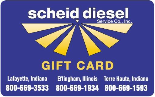 Scheid Diesel Gift Card $50