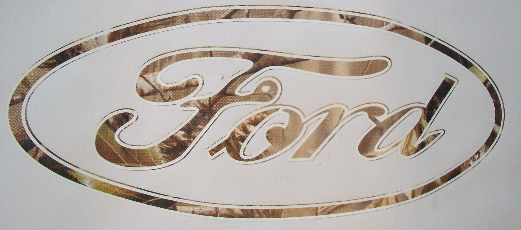 Ford Oval Camo Decal