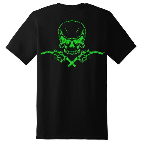 Diesel Life Skull and Pump Black and Neon Green Adult Sizes
