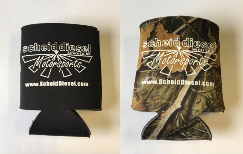 Scheid Diesel Black or Camo Koozie
