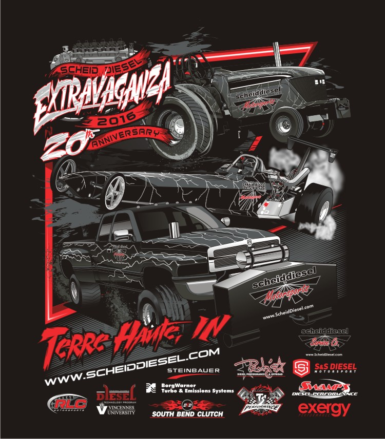 Scheid Diesel Extravaganza 2016 Event Shirts