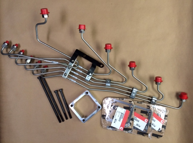 FUEL LINE KIT WITH STEEL FUEL LINES FOR ISB WITH P PUMP
