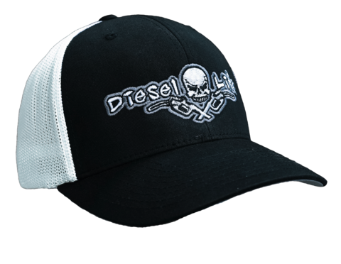Diesel Life Hat Black and White Flex Fit