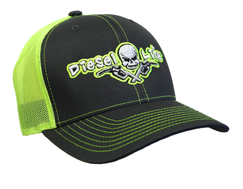 Diesel Life Hat Neon Green and Black Snap Back
