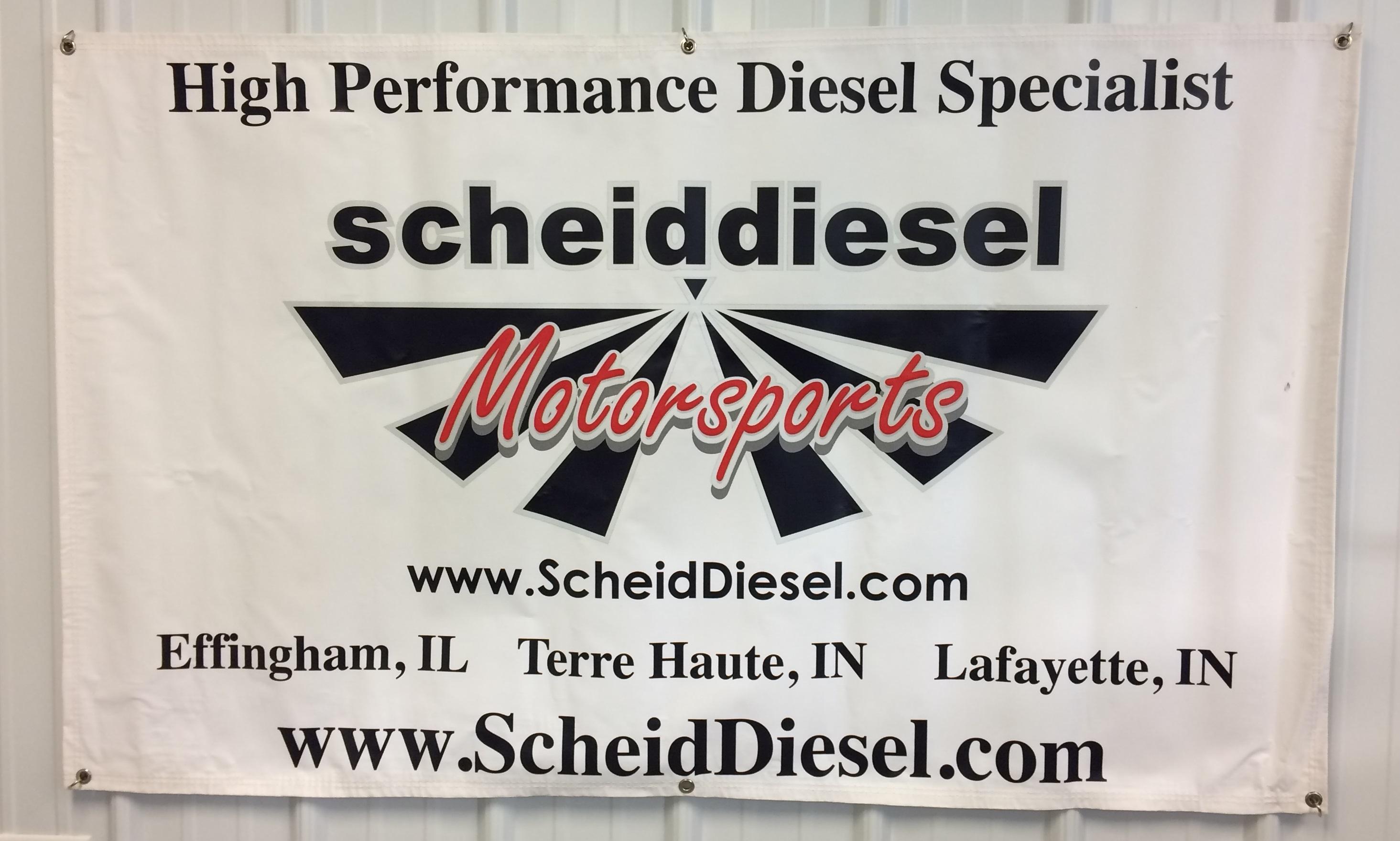 Scheid Diesel Motorsports Banner