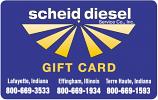 Scheid Diesel Gift Card $100