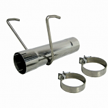 MDS9017 Dodge Replaces All 17 In. Overall Length Mufflers 17 In. Muffler Delete Pipe