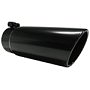 T5127BLK Tip, 7In O.D., Rolled End, 5In Inlet 18In In Length, Black Finish