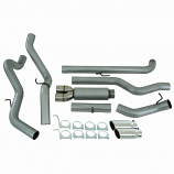S6006AL Gm 01-07 2500/3500 Duramax, Ec/Cc Down Pipe Back, Cool Duals, Off-Road