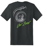 Diesel Life Turbo Black and Green T-Shirt Adult Sizes