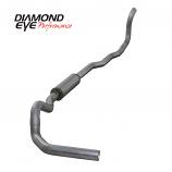 "Diamond Eye 4"" Single Exhaust, 1989-1993 Dodge Cummins 5.9L 4WD, Aluminized"