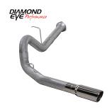 "Diamond Eye 4"" Single Exhaust, 2007.5-2010 Duramax, Aluminized"