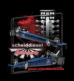 Scheid Diesel Motorsports Dragster Shirt - New Design for 2017