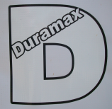 Duramax D Decal