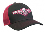 Diesel Life Hat Neon Pink and Charcoal Snap Back