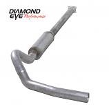 "Diamond Eye 4"" Single Exhaust, 2001-2005 Duramax, Stainless"