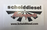 Scheid Diesel Motorsports Sticker