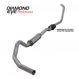"Diamond Eye 4"" Exhaust 2003-2007 Powerstroke F250/F350 Alum"