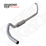 "Diamond Eye 4"" Single Exhaust 1994.5-1997.5 E-series van 7.3L Alum"