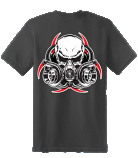 Diesel Life Gas Mask Black T-Shirt Adult Sizes