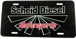 Scheid Diesel Motorsports License Plate