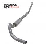 "Diamond Eye 4"" Single Exhaust, 1994-2000 2500/3500 6.5L, Aluminized"