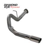 "Diamond Eye 4"" Single Exhaust, 2007.5-2010 Duramax, Stainless"