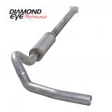 "Diamond Eye 4"" Single Exhaust, 2001-2005 Duramax, Aluminized"
