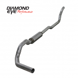 "Diamond Eye 4"" Single Exhaust, 1989-1993 Dodge Cummins 5.9L 2WD, Aluminized"